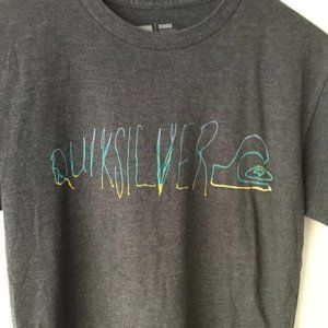 Quiksilver Graphic Tee Shirt Surf Black Size Small